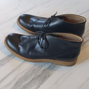 Tod's chukka boot black leather size 11